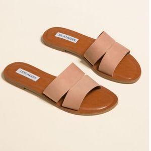 Steve Madden Alexandra Camel Slide Sandals
